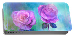 Soft And Beautiful Roses Portable Battery Charger