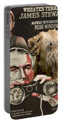Soft-coated Wheaten Terrier  - Wheaten Terrier Art Canvas Print - Rear Window Movie Poster Portable Battery Charger