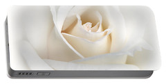 Soft Ivory Rose Flower Portable Battery Charger
