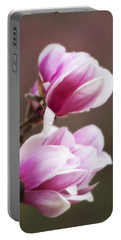 Soft Magnolia Blossoms Portable Battery Charger