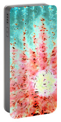 Soft Morning Rain Portable Battery Charger by Jacqueline McReynolds