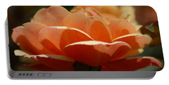 Portable Battery Charger featuring the photograph Soft Orange Flower by Matt Harang