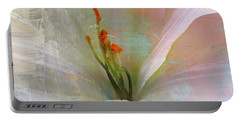 Soft Painted Lily Portable Battery Charger by Judy Palkimas