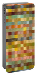 Soft Palette Rustic Wood Series Collage Lll Portable Battery Charger by Michelle Calkins