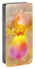 Soft  Pink And Yellow Iris  Portable Battery Charger