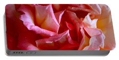 Portable Battery Charger featuring the photograph Soft Pink Petals Of A Rose by Janice Rae Pariza