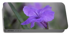 Portable Battery Charger featuring the photograph Soft Purple Floral by Penny Meyers