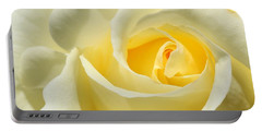 Soft Yellow Rose Portable Battery Charger
