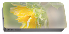 Soft Yellow Sunflower Just Starting To Bloom Portable Battery Charger