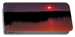 Solar Eclipse Sunset Portable Battery Charger by Jason Politte