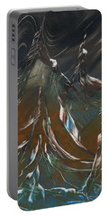 Portable Battery Charger featuring the painting Solar Winds by Jason Girard