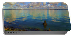 Portable Battery Charger featuring the digital art Solent by Ron Harpham