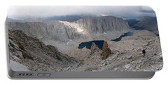 Solitary Hiker Panorama Portable Battery Charger by Alan Socolik