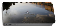 Solitary Sculler Portable Battery Charger by Debi Demetrion