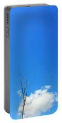 Solitude - Blue Sky Art By Sharon Cummings Portable Battery Charger