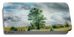 Portable Battery Charger featuring the painting Solitude by Sorin Apostolescu
