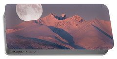 Solstice Sunrise Alpenglow Full Moon Setting Portable Battery Charger