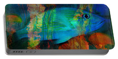 Something Fishy Portable Battery Charger by Erika Weber