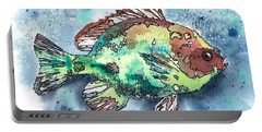 Something's Fishy Two Portable Battery Charger by Barbara Jewell