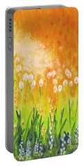 Portable Battery Charger featuring the painting Sonbreak by Holly Carmichael