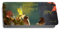 Songs Of Joy Portable Battery Charger by Nava Thompson