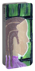 Abstract Man Art Painting  Portable Battery Charger