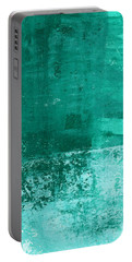 Soothing Sea - Abstract Painting Portable Battery Charger by Linda Woods