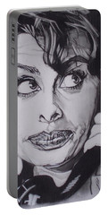 Sophia Loren Telephones Portable Battery Charger by Sean Connolly