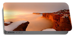 Portable Battery Charger featuring the photograph Grand View In Fog by Dustin  LeFevre