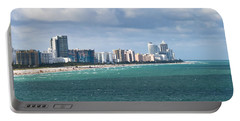 South Beach On A Summer Day Portable Battery Charger
