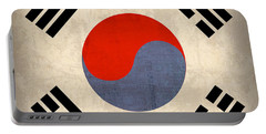 South Korea Flag Vintage Distressed Finish Portable Battery Charger