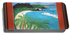 Portable Battery Charger featuring the painting South Pacific by Ron Davidson