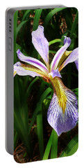 Southern Blue Flag Iris Portable Battery Charger