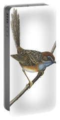 Southern Emu Wren Portable Battery Charger by Anonymous