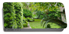 Portable Battery Charger featuring the photograph Southern Garden Charleston South Carolina by Vizual Studio