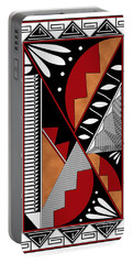 Southwest Collection - Design Seven In Red Portable Battery Charger