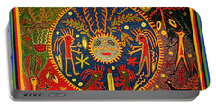 Southwest Huichol Del Sol Portable Battery Charger by Vagabond Folk Art - Virginia Vivier