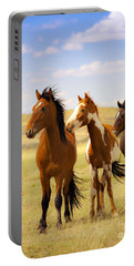 Southwest Wild Horses On Navajo Indian Reservation Portable Battery Charger