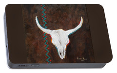 Portable Battery Charger featuring the painting Southwestern Influence by Judith Rhue