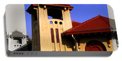 Spanish Architecture Tile Roof Tower Portable Battery Charger