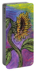 Spanish Sunflower Portable Battery Charger by Sarah Loft