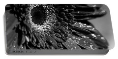 Sparkling Gerbera In Monochrome Portable Battery Charger