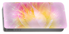 Portable Battery Charger featuring the photograph Sparkling Starlight Burst Abstract by Judy Palkimas