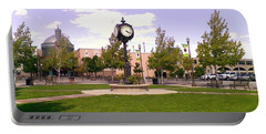 Portable Battery Charger featuring the photograph Sparks Community Clock by Bobbee Rickard
