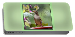 Sparrow Inspiration From The Book Of Luke Portable Battery Charger by Catherine Sherman