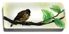Sparrow On A Branch Portable Battery Charger by Francine Heykoop