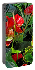 Spathiphyllum Flowers Peace Lily Portable Battery Charger