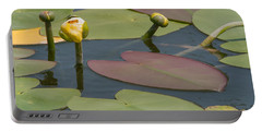 Spatterdock Heart Portable Battery Charger
