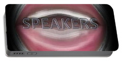 Portable Battery Charger featuring the digital art Speakers by Catherine Lott