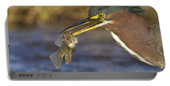 Portable Battery Charger featuring the photograph Speared by Bryan Keil